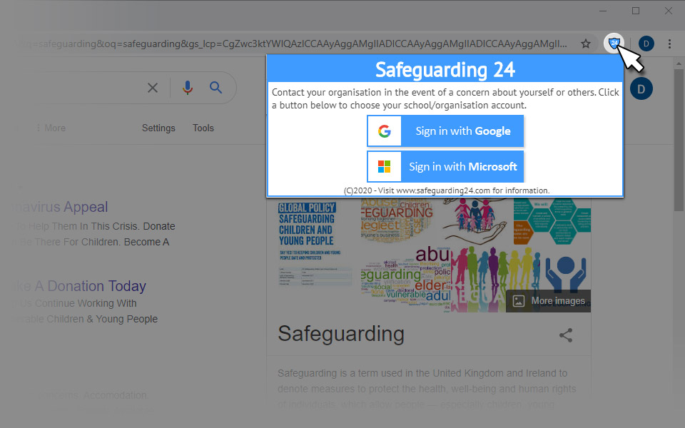 Safeguarding 24 - browser extension login